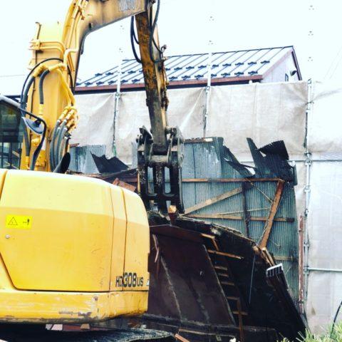 大垣市  木造家屋、解体