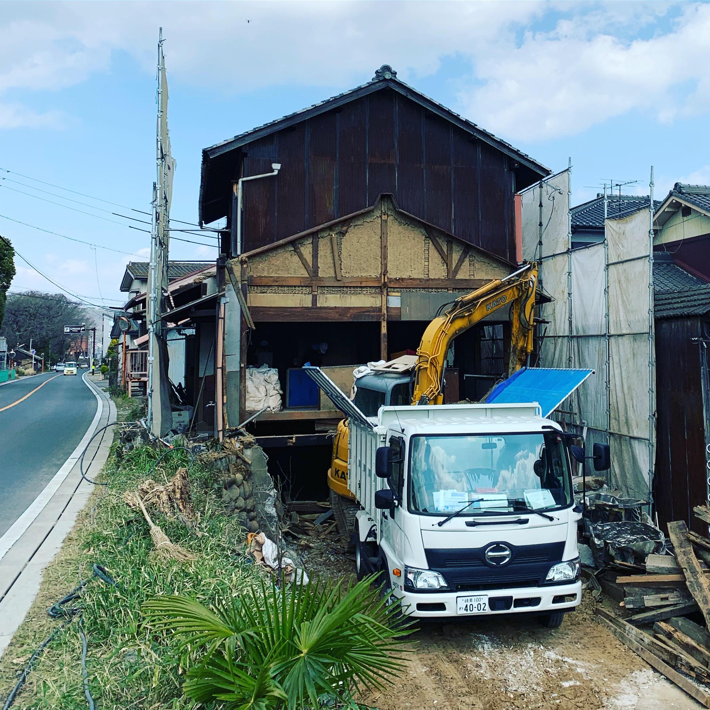 犬山市造船所跡地解体