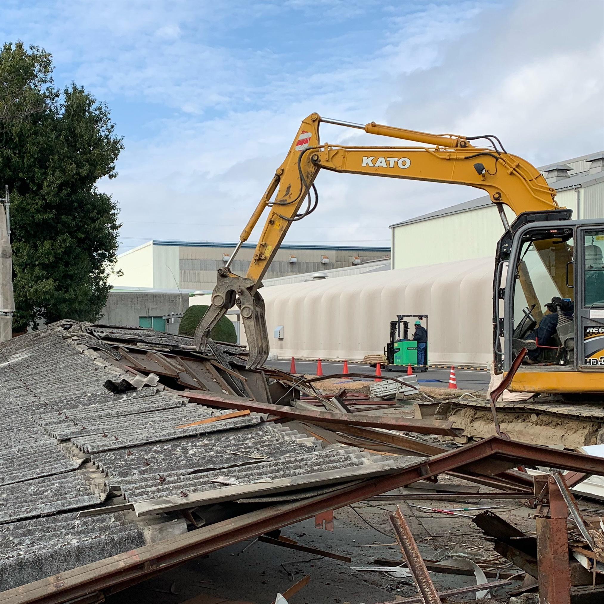 犬山市工場敷地内の解体工事