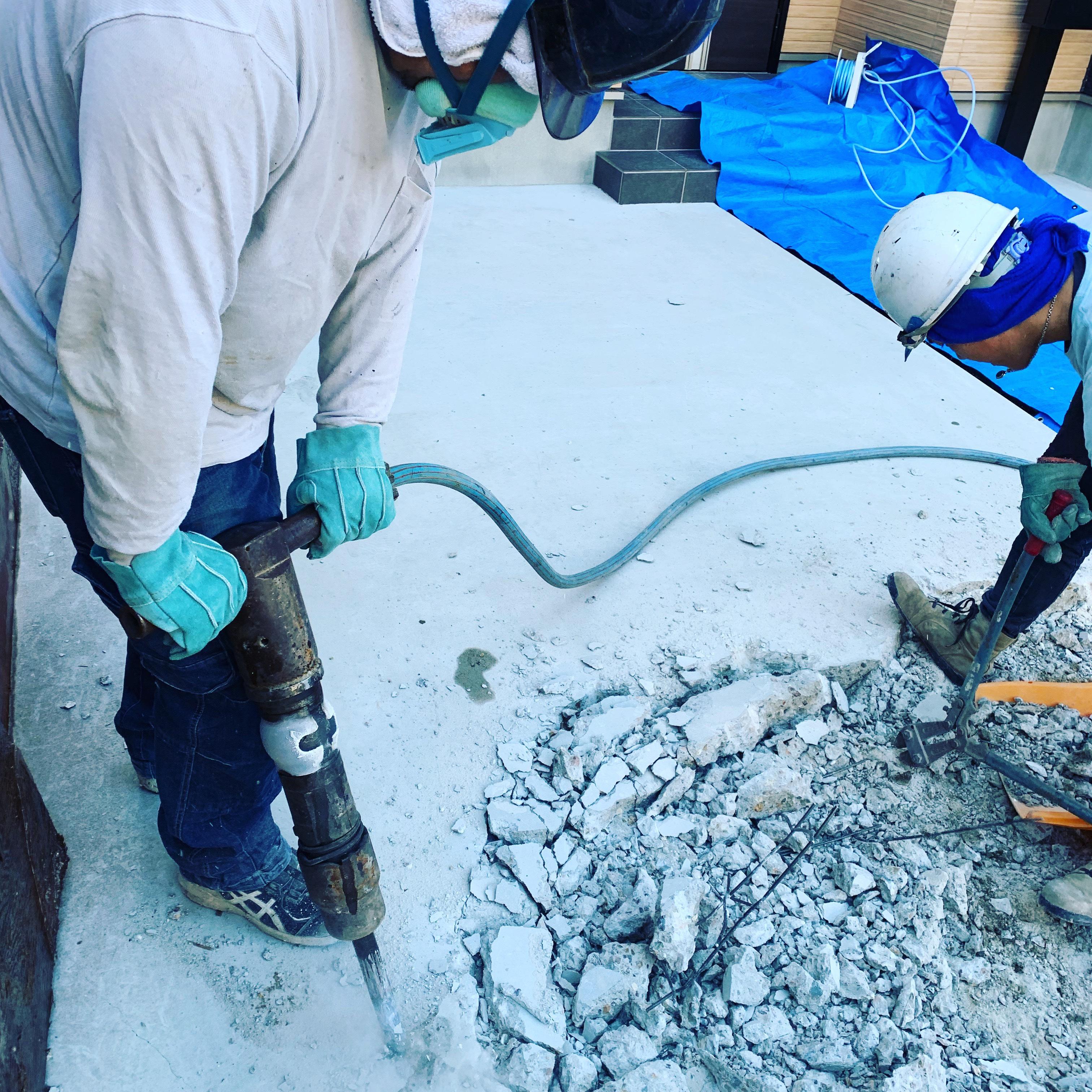 名古屋市天白区 土間の斫り工事