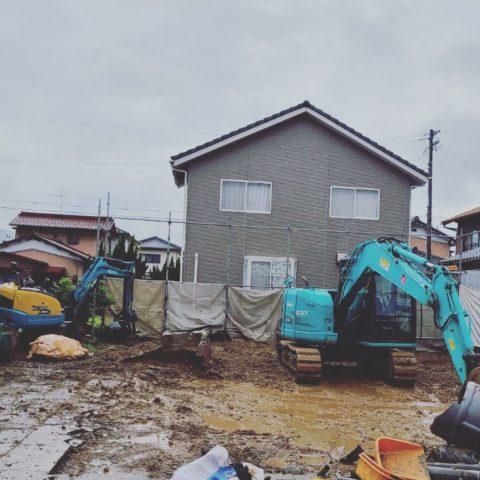 羽島市 木造家屋解体 建物基礎