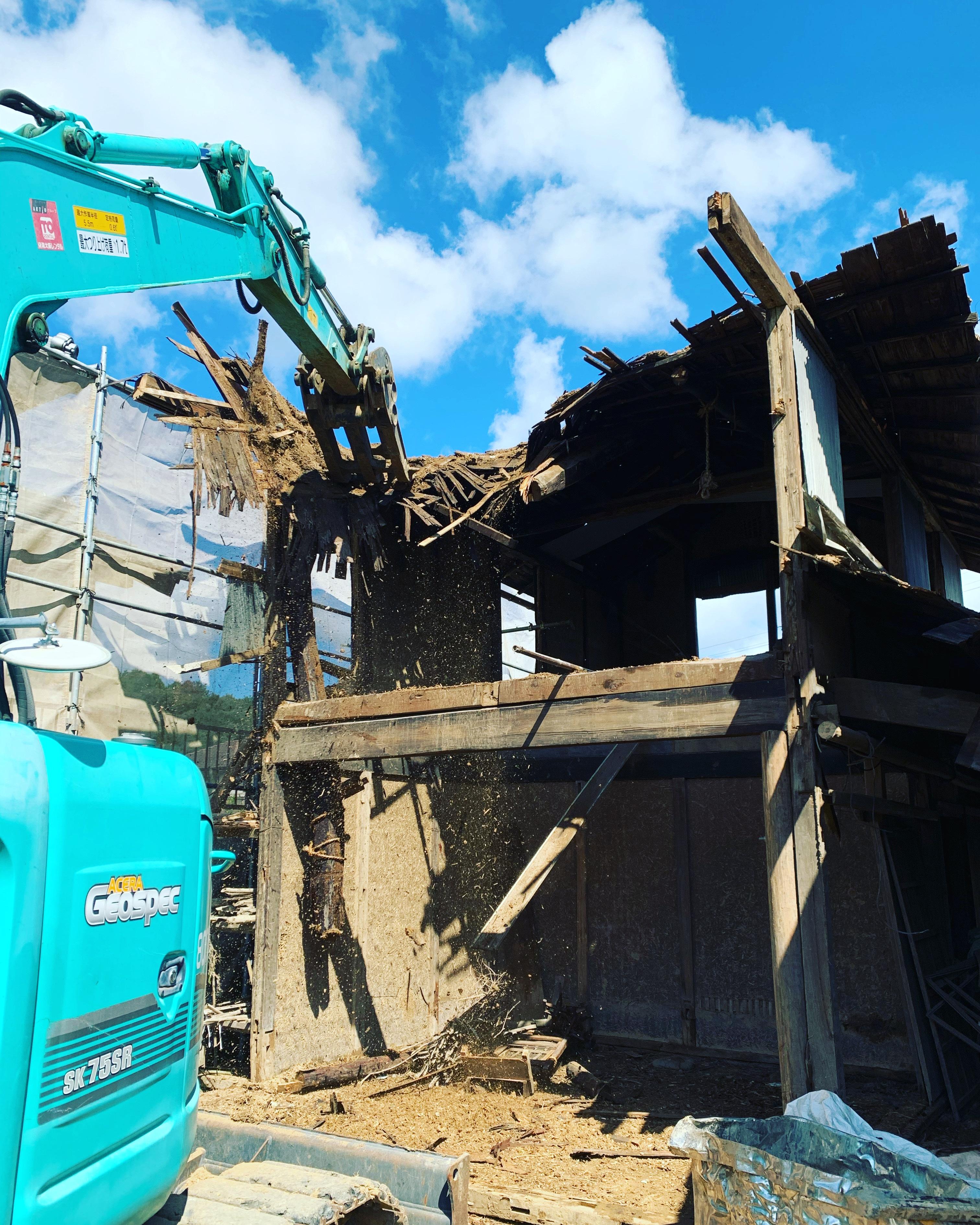 関市 木造家屋解体2