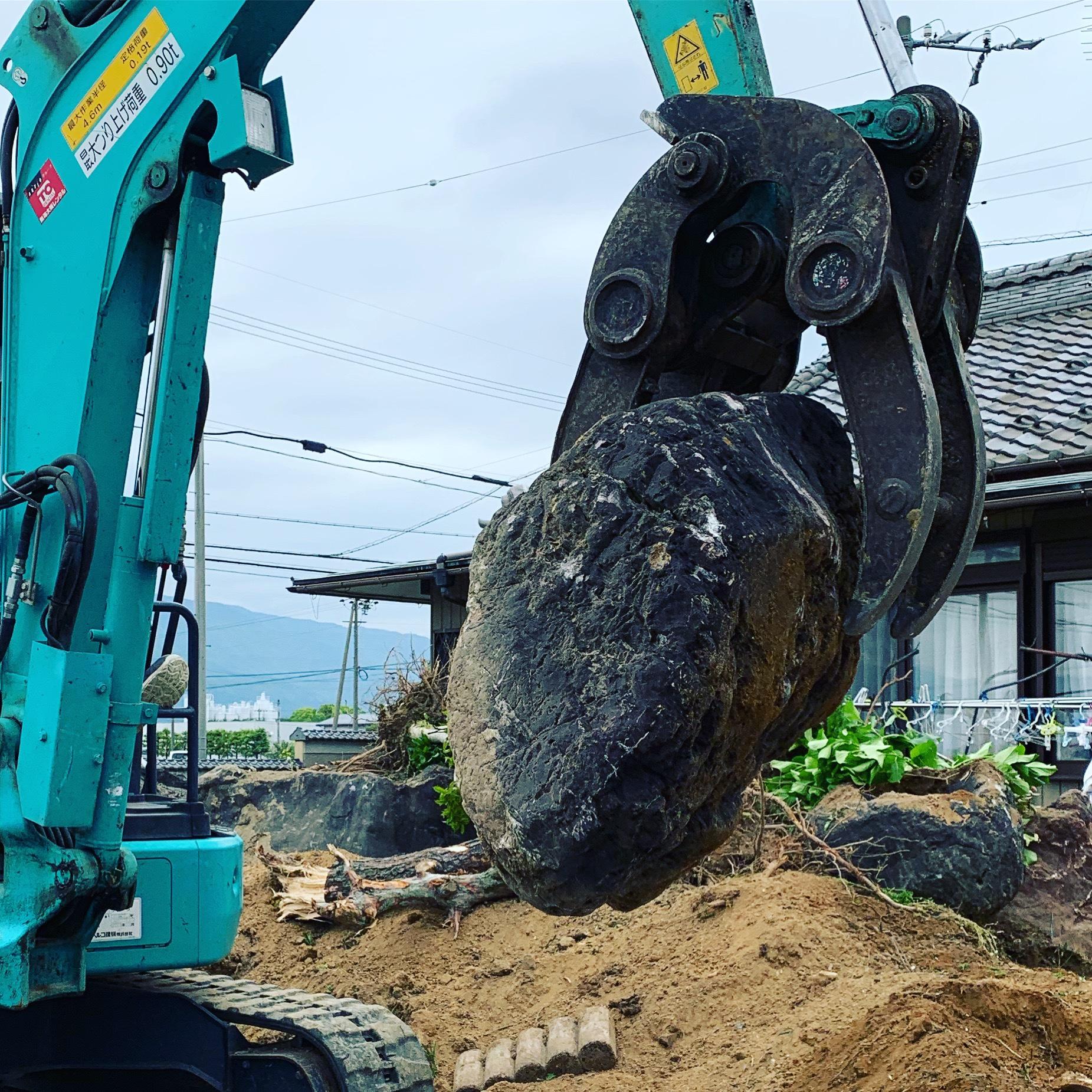 神戸町 庭撤去