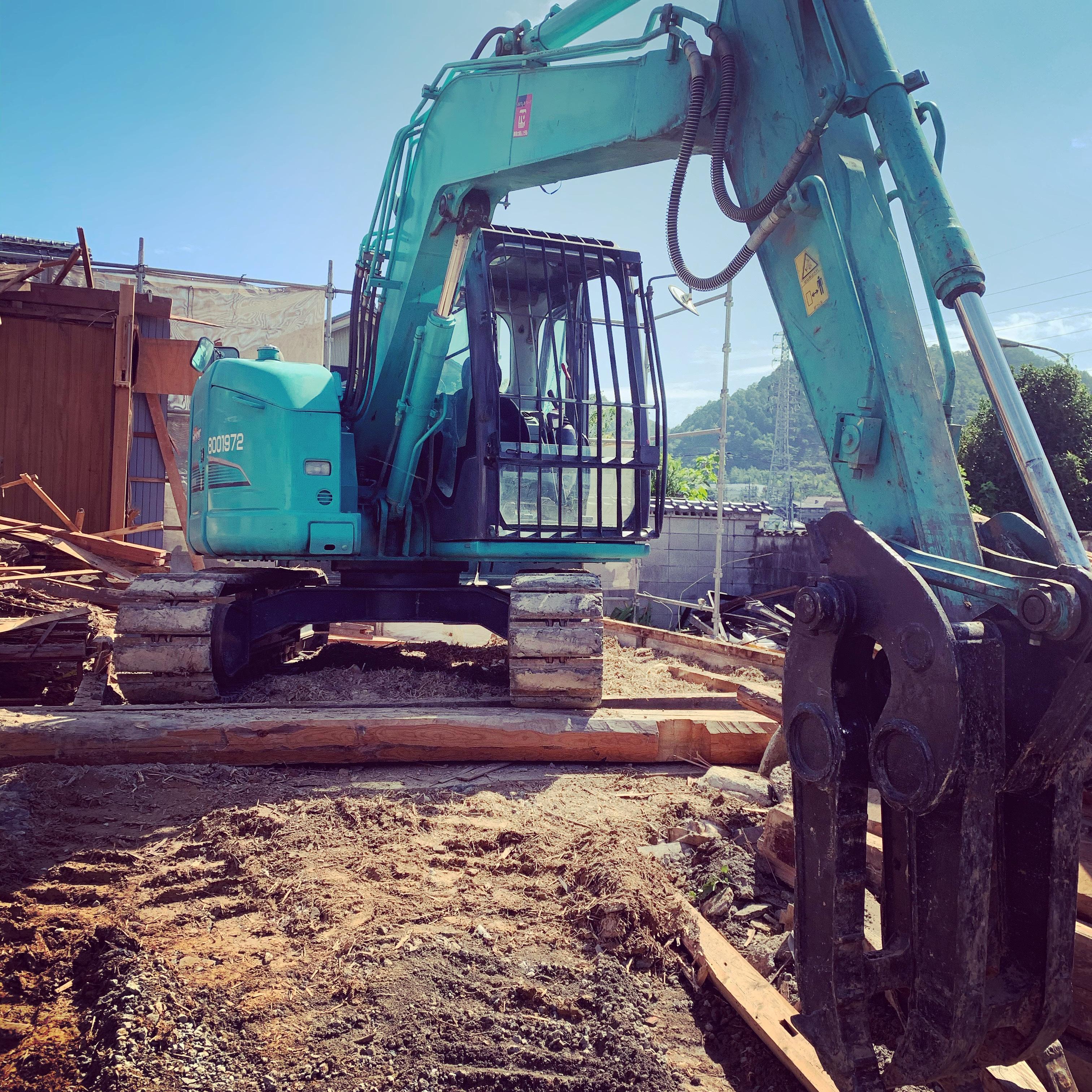 美濃市 木造家屋解体工事