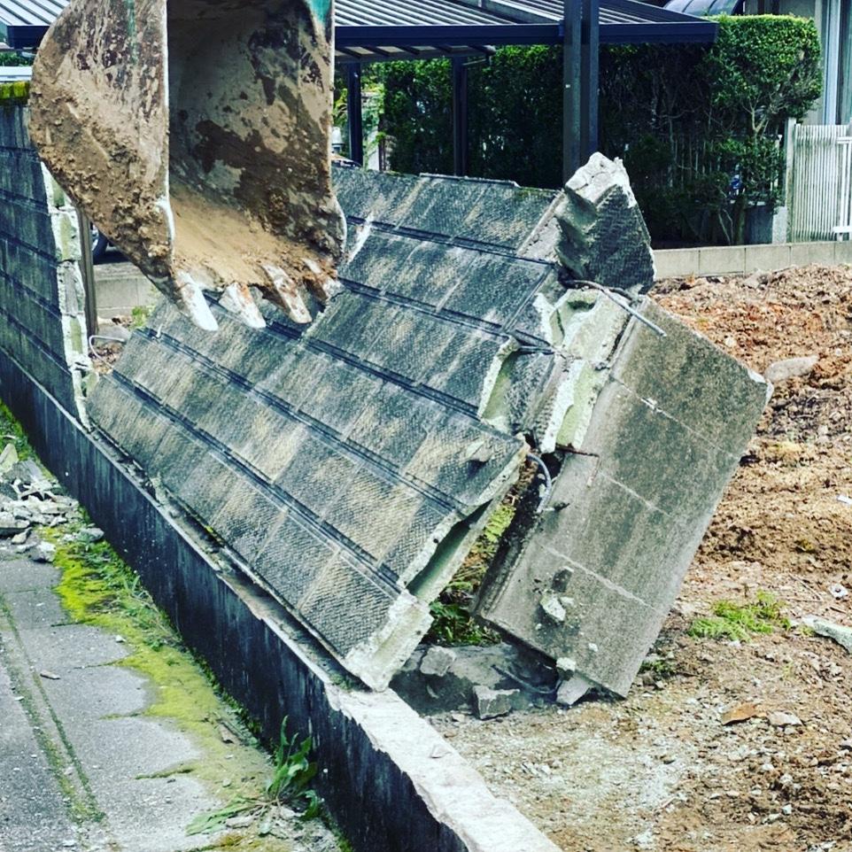 関市 ブロック塀撤去