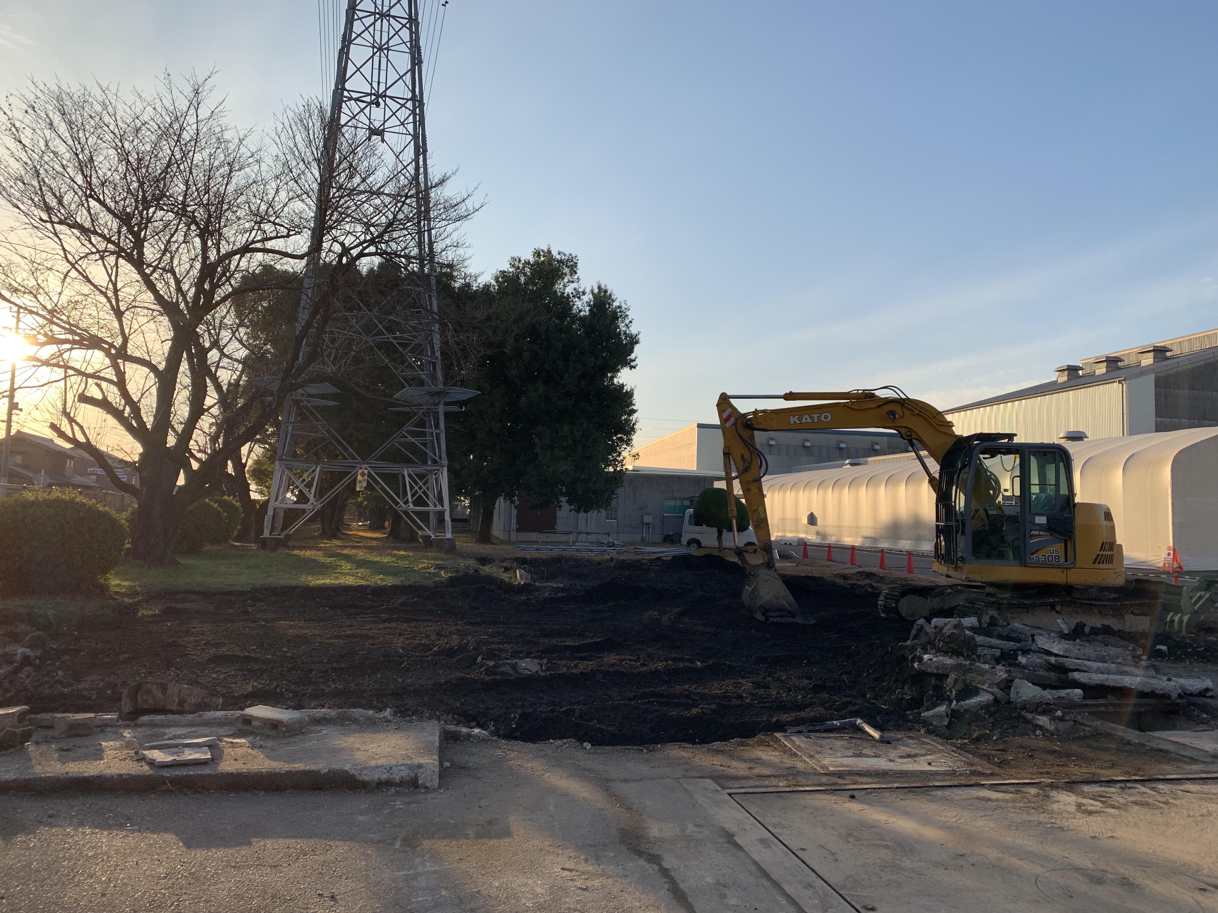 犬山市 工場敷地内の建物解体工事