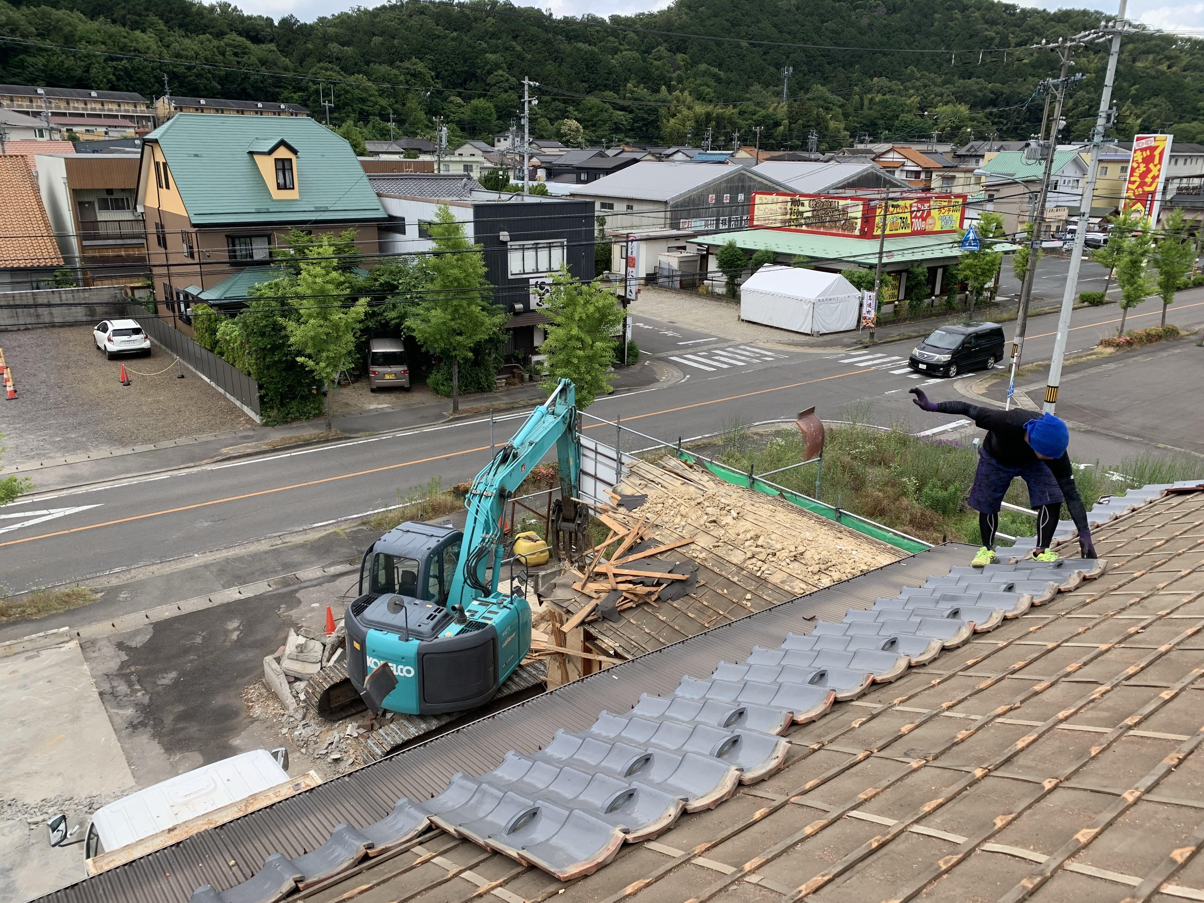 関市西本郷通 木造家屋解体
