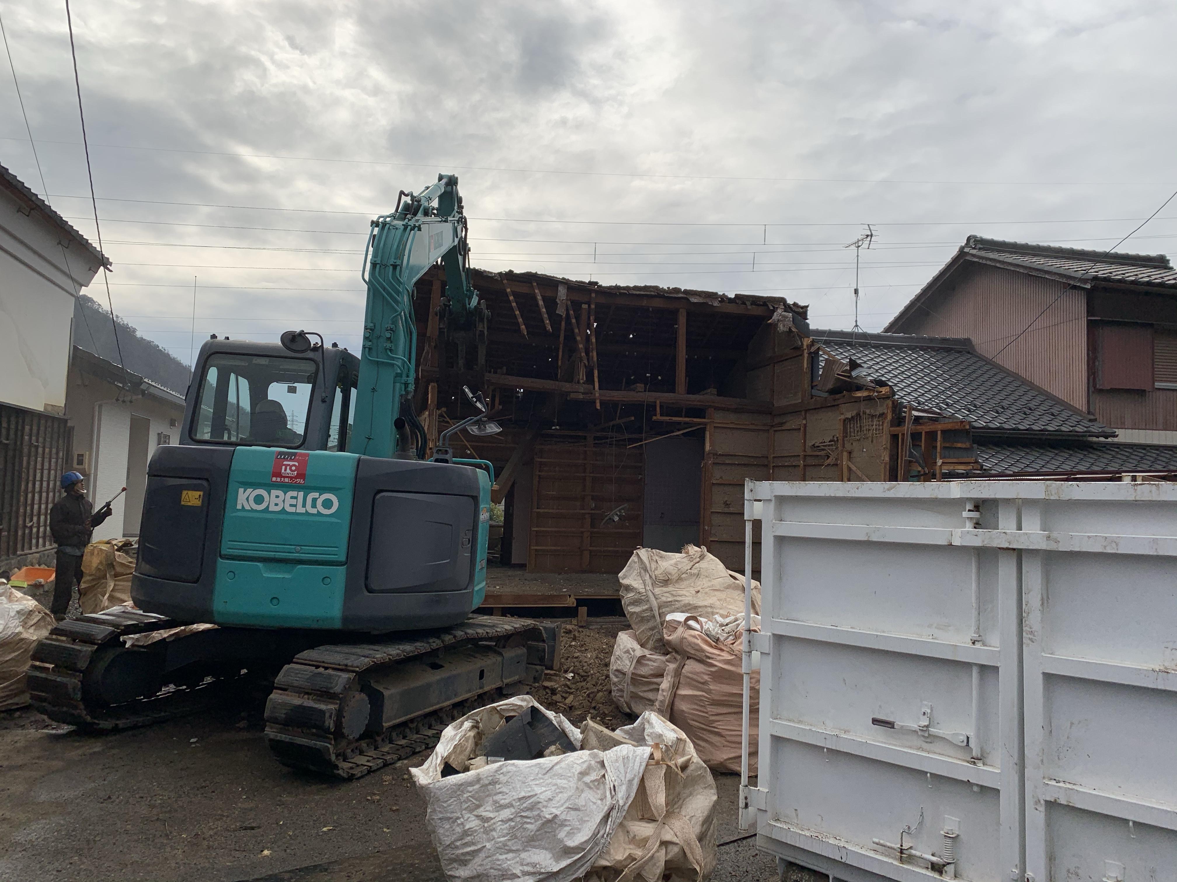美濃市 木造解体2次工事