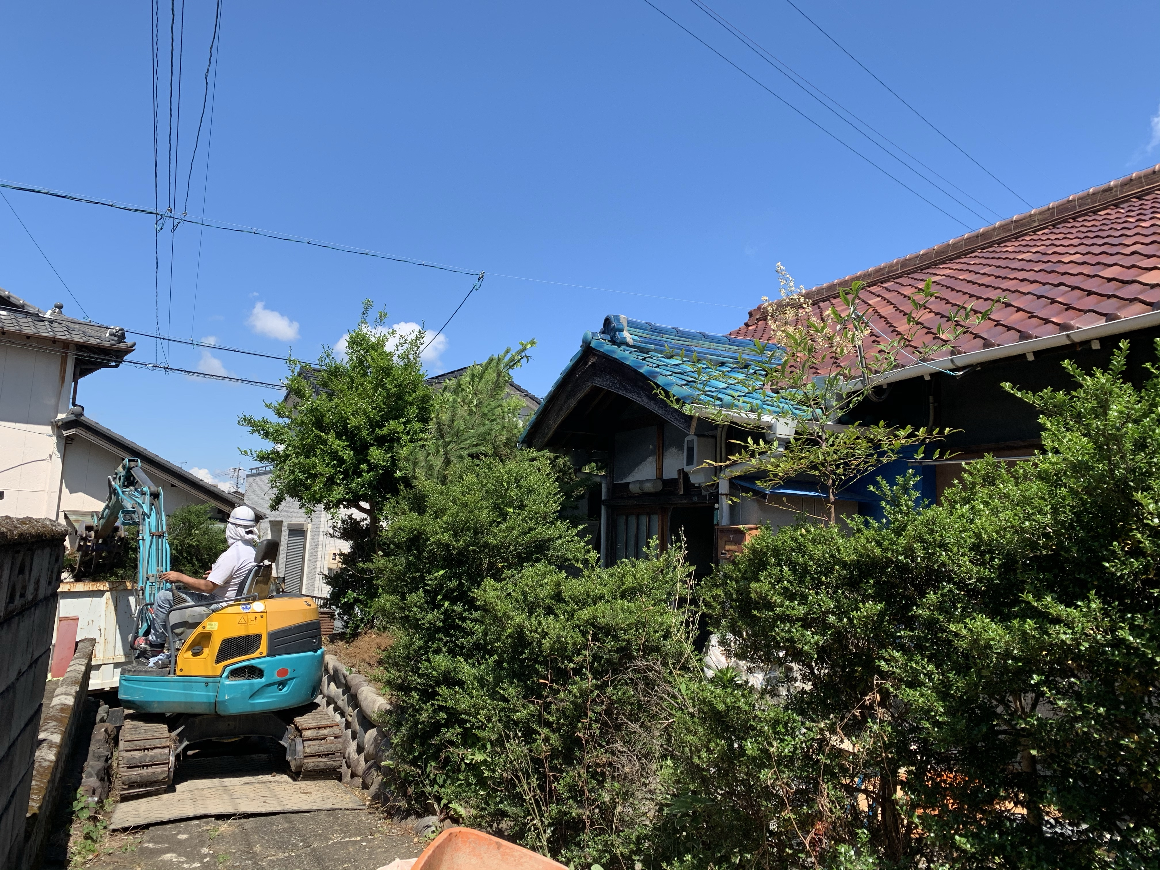 犬山市 木造家屋解体 生木撤去